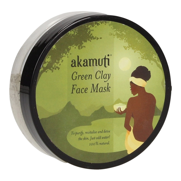 Mini Gesichtsmaske aus grünem Ton