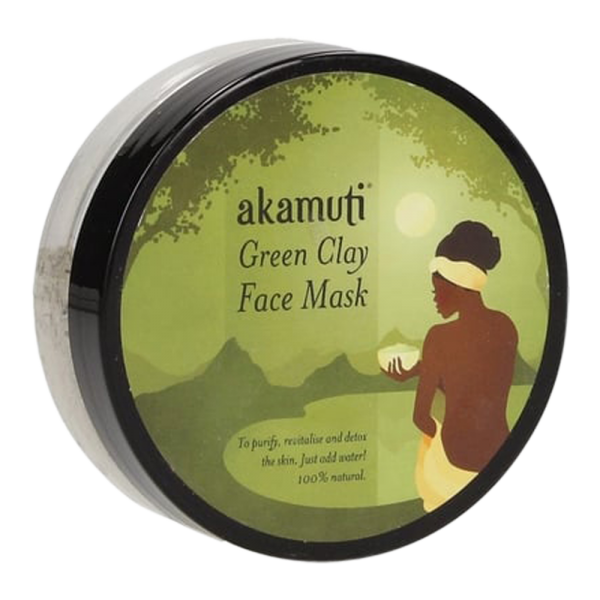 Gesichtsmaske aus grünem Ton
