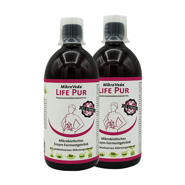 Mikrobiotisches Enzym-Fermentgetränk PUR 2x 500 ml